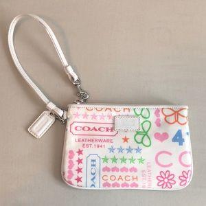 Colorful Coach Wristlet